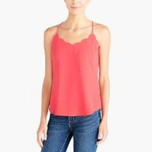 NWT J. Crew Pink Scalloped Cami Tank Top Size 6